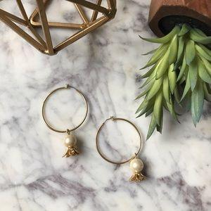 Hoop Drop • Pearl & Flower Earrings